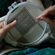 "What""s the distinction between embroidery and needlepoint?"